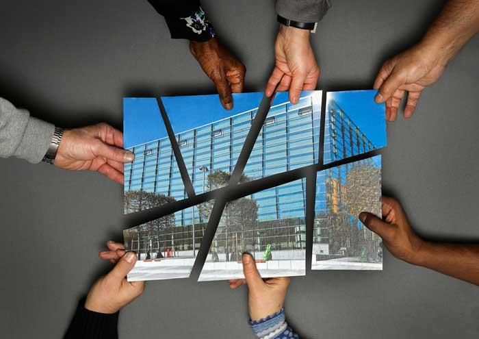 Bild på planering av arbetsplatser