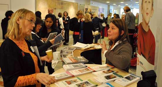 Konferensen Bara vara barn lockade 120 deltagare under torsdagen. Förutom föreläsningar fanns ett tiotal utställare.