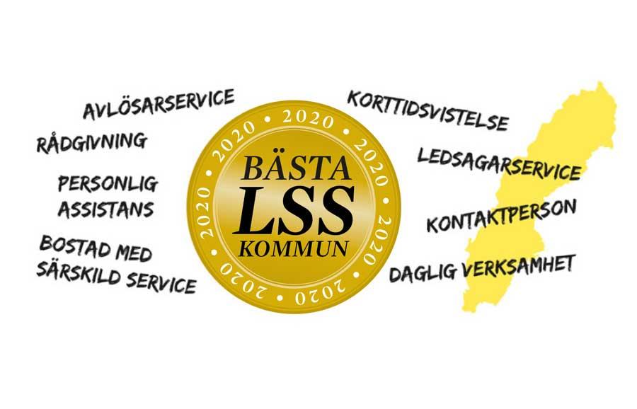Logotyp för Bästa LSS-kommun 2020