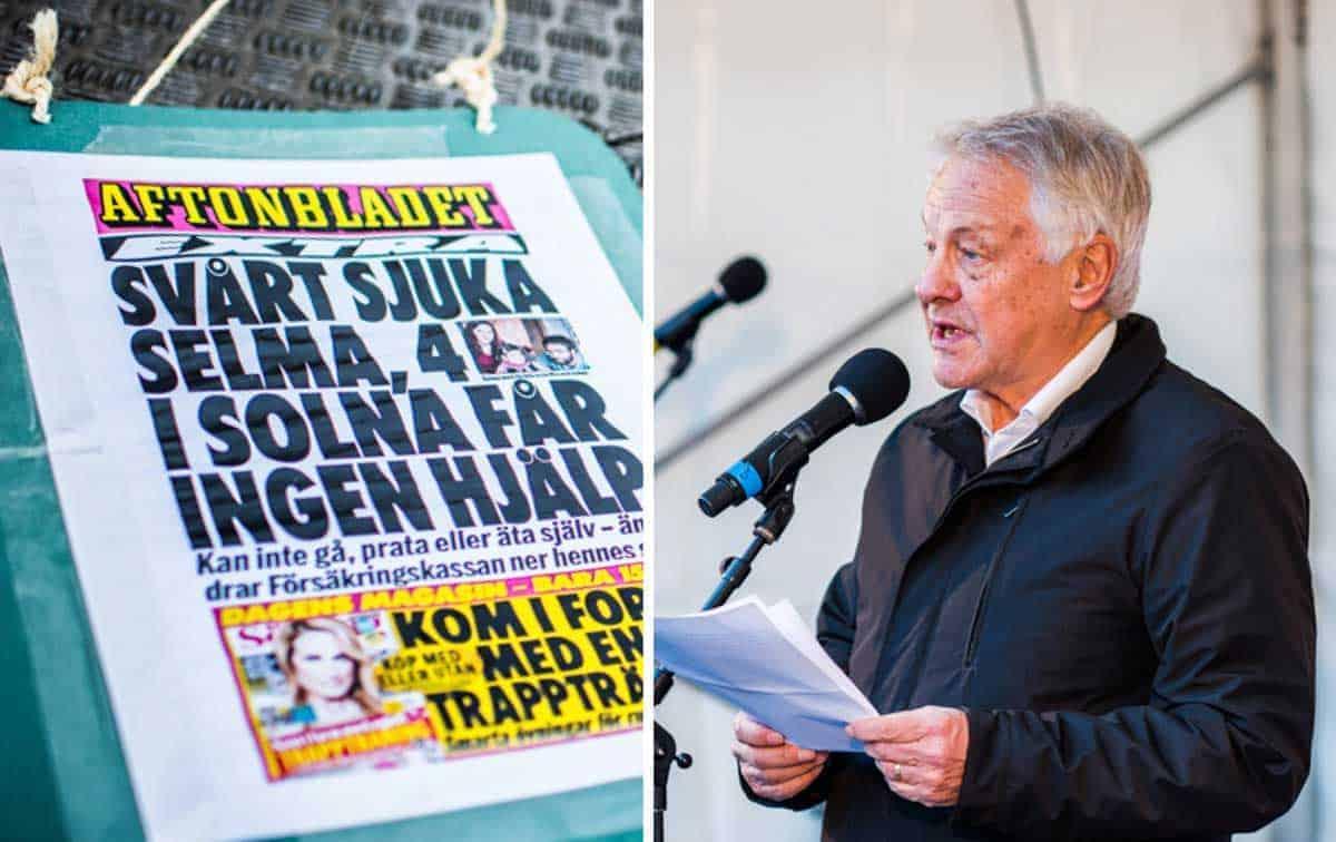 Bengt Westerberg - och rubrikerna som regeringen vill slippa under valåret 2018. Foto: Linnea Bengtsson.