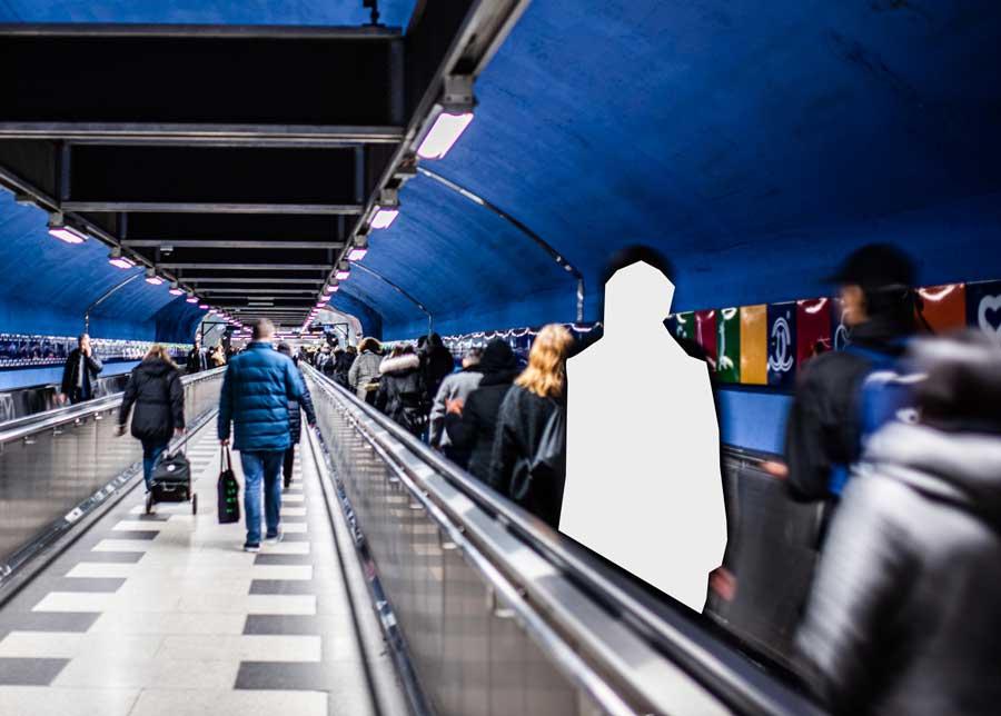 Collage som illustrerar utanförskap. Foto: Linnea Bengtsson