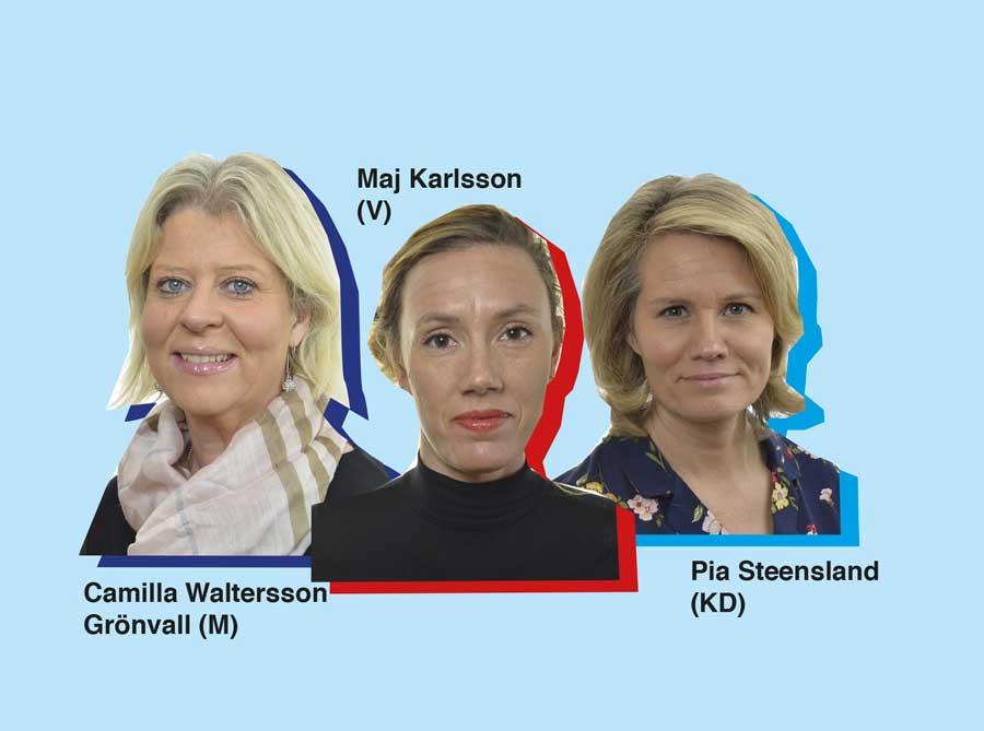 Maj Karlsson och Pia Steensland Camilla Waltersson Grönvall