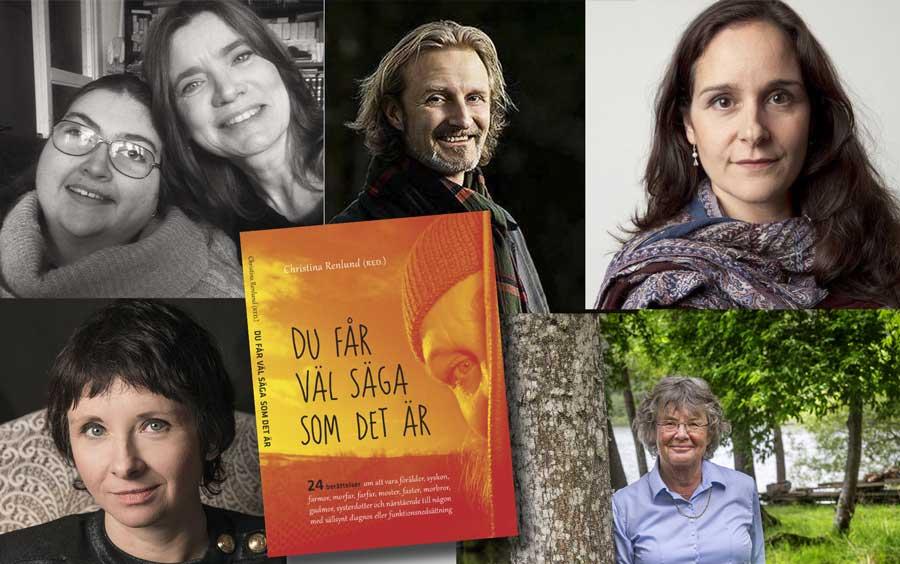 Medurs från överst vänster: Kristina Lind med Tilda