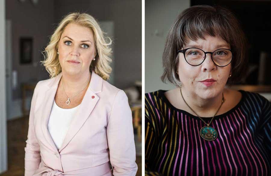 Lena Hallengren och Åsa Strahlemo (collage)