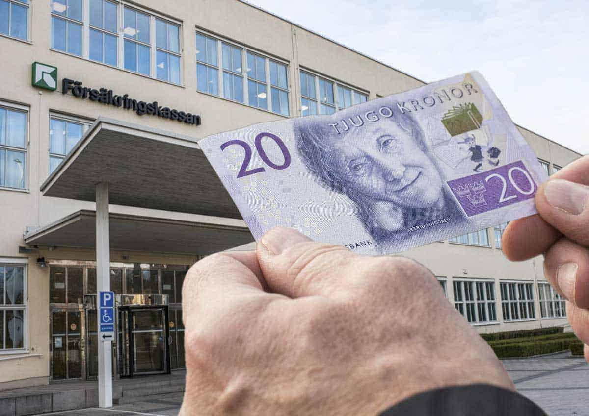 Pengar från Försäkringskassan - genrebild. Foto: Linnea Bengtsson