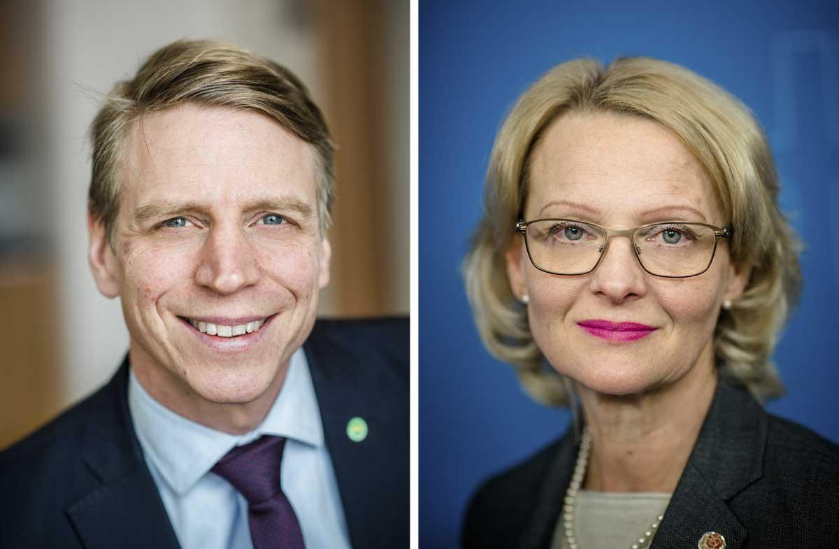 Per Bolund och Helene Fritzon presenterade förslagen på tisdagen. Foto: Linnea Bengtsson.