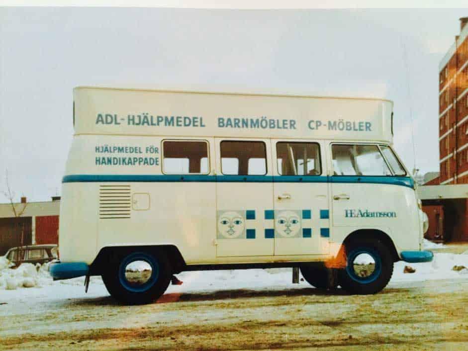 Buss med hjälpmedel