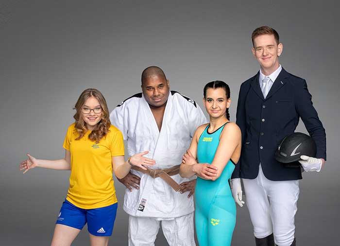 Fyra idrottare