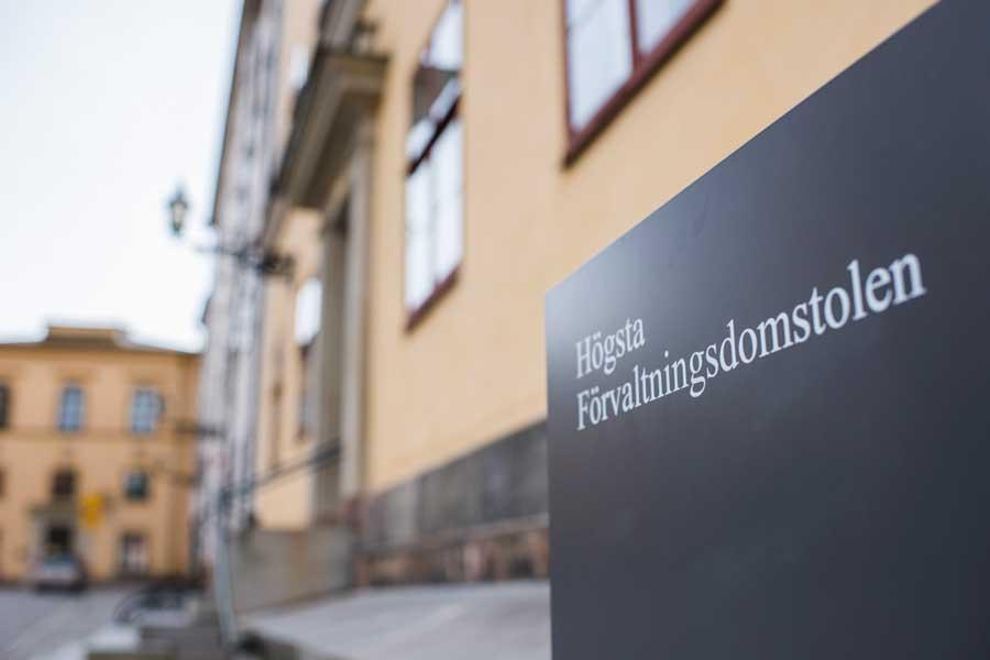 FUB har granskat åtta domar hos Högsta förvaltningsdomstolen. Foto: Linnea Bengtsson.