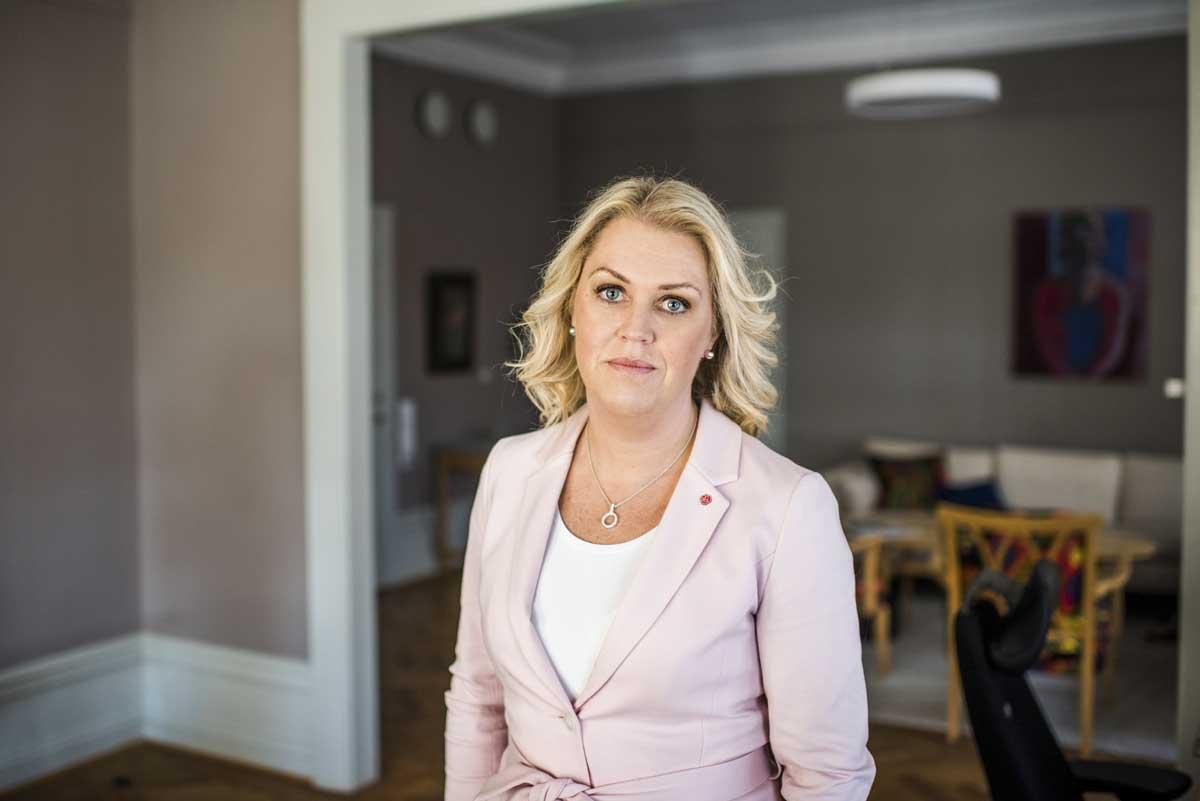 Socialminister Lena Hallengren. Foto: Linnea Bengtsson.
