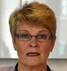 Maud Olofsson, näringsminister.