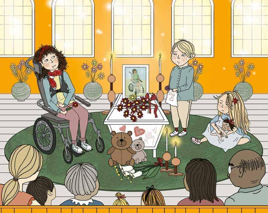 Boken Operation Dödsviktigt har skrivits av Anna Pella och illustrerats av Anna Forsmark. Den utkommer i januari 2020.|Bokomslag Operation dödsviktigt
