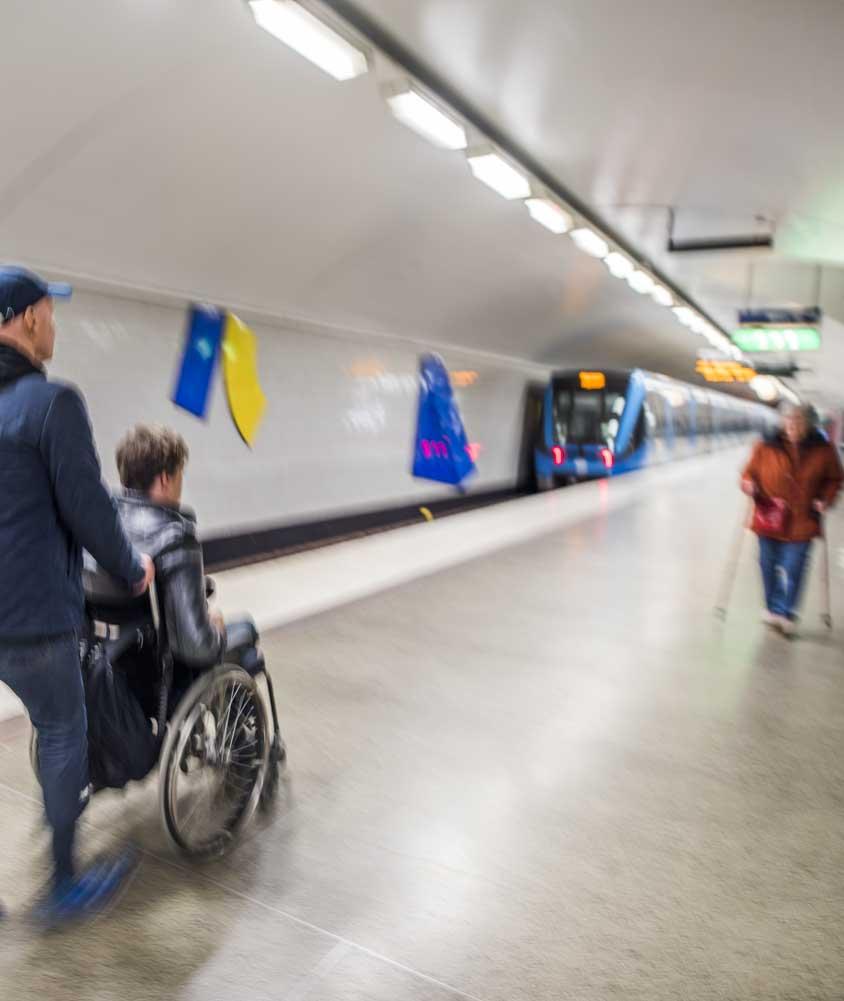 Tunnelbanan i Stockholm. Foto: Linnea Bengtsson
