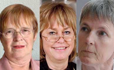 Foto på tre ordföranden.